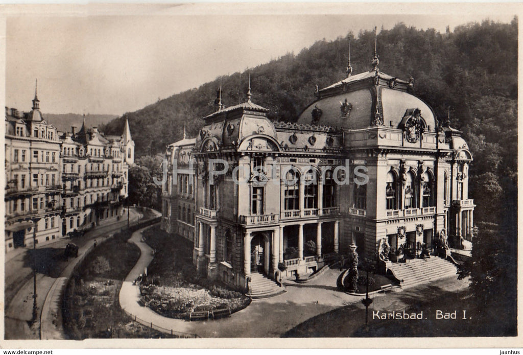 Karlovy Vary - Karlsbad - Bad I - old postcard - 1930 - Czechoslovakia - Czech Republic - used - JH Postcards