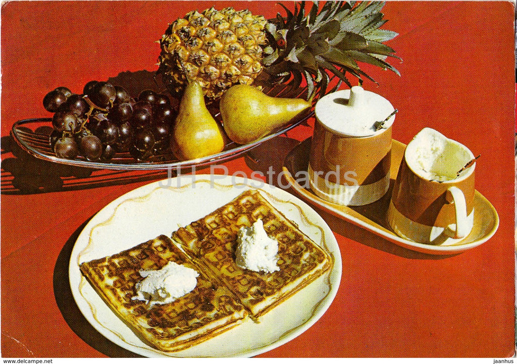 Meal - pineapple - pear - grape - Philips - 1985 - Zimbwabwe - used - JH Postcards