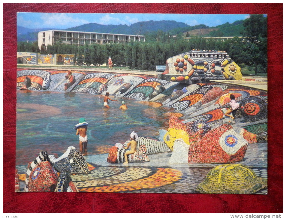 a children's pool - Adler - Sochi - 1981 - Russia - USSR - unused - JH Postcards
