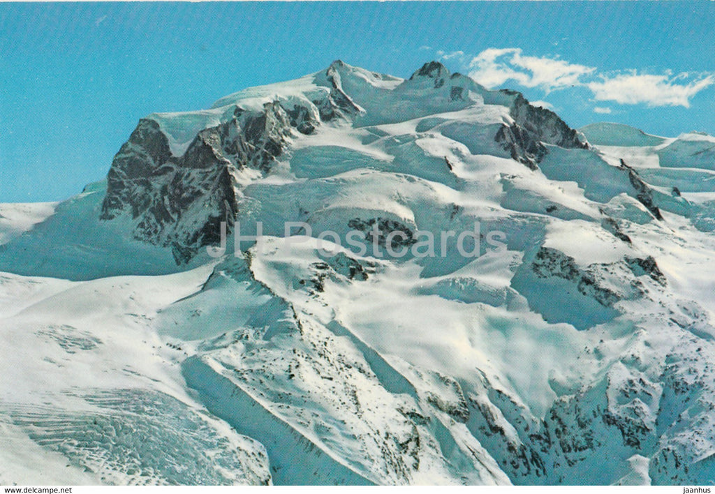 Monte Rosa 4634 m - Blick vom Gornergrat bei Zermatt - 49951 - Switzerland - unused - JH Postcards