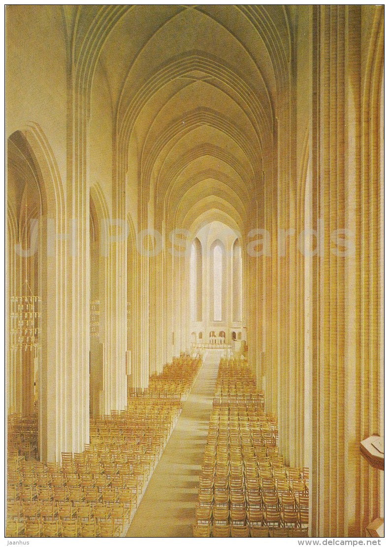 Grundtvig´s Church - interior - Copenhagen - 6003 - Denmark - unused - JH Postcards
