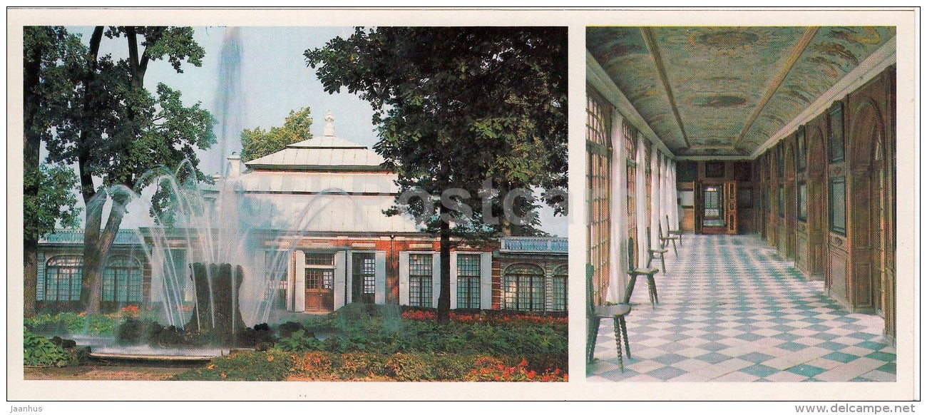 The Palace of Monplaisir , The Eastern Gallery - Petrodvorets - 1984 - Russia USSR - unused - JH Postcards