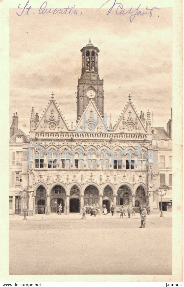St Quentin - Rathaus - Feldpostkarte - 14 - old postcard - France - used - JH Postcards