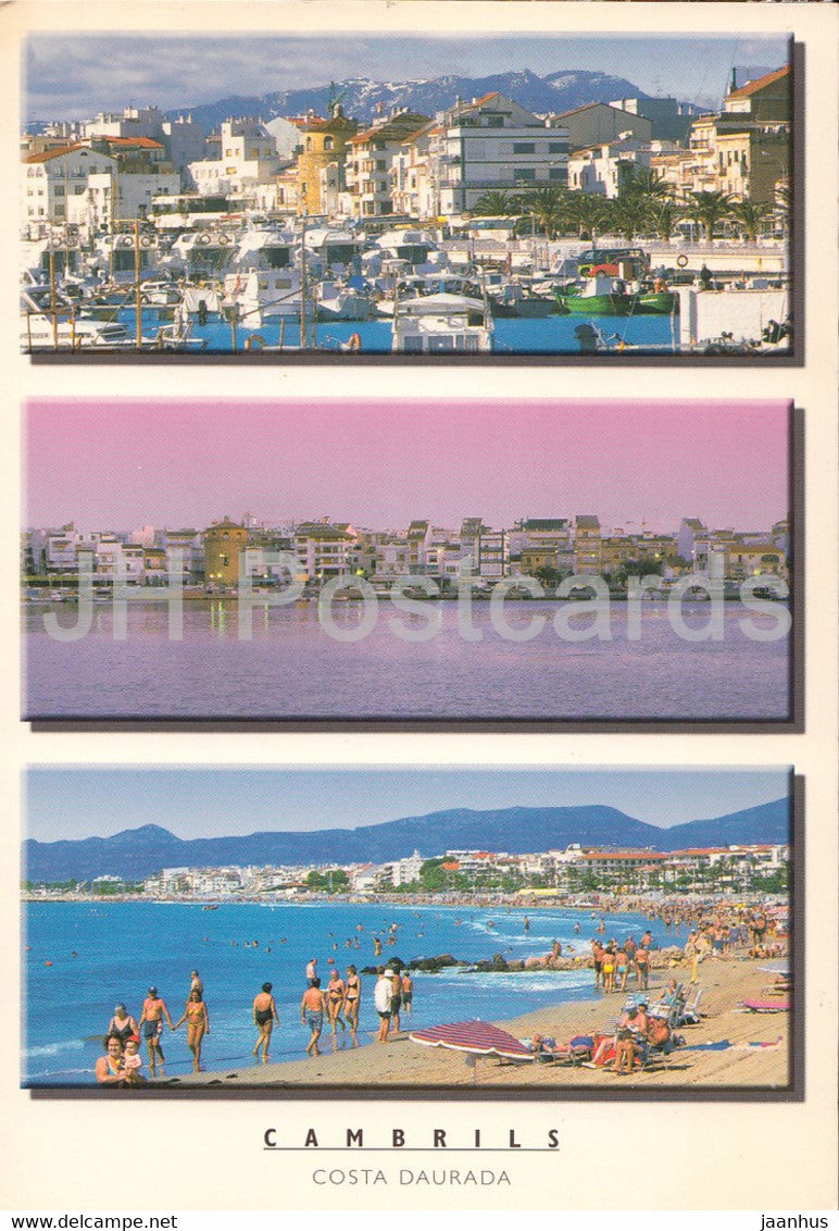 Cambrils - Costa Daurada - beach - multiview - 2003 - Spain - used - JH Postcards