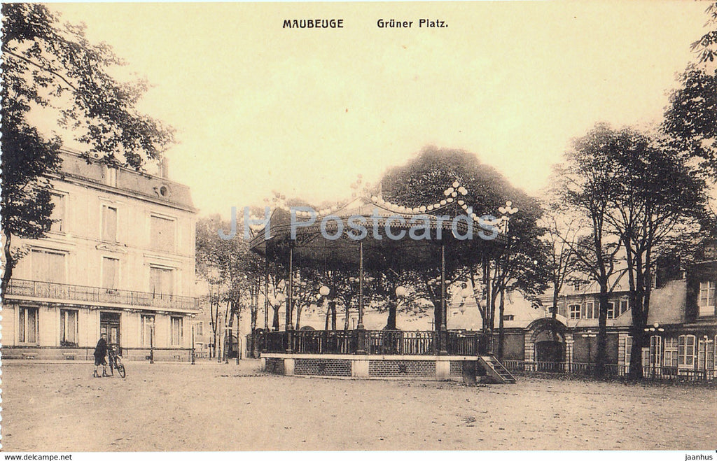 Maubeuge - Gruner Platz - old postcard - France - unused - JH Postcards
