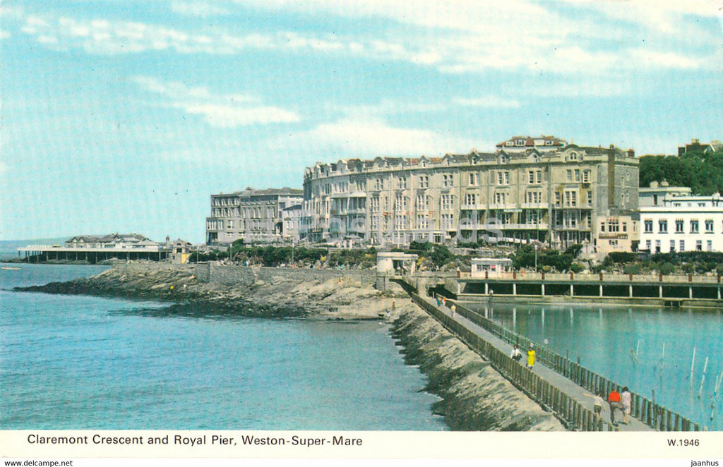 Claremont Crescent and Royal Pier - Weston Super Mare - 1977 - England - United Kingdom - used - JH Postcards