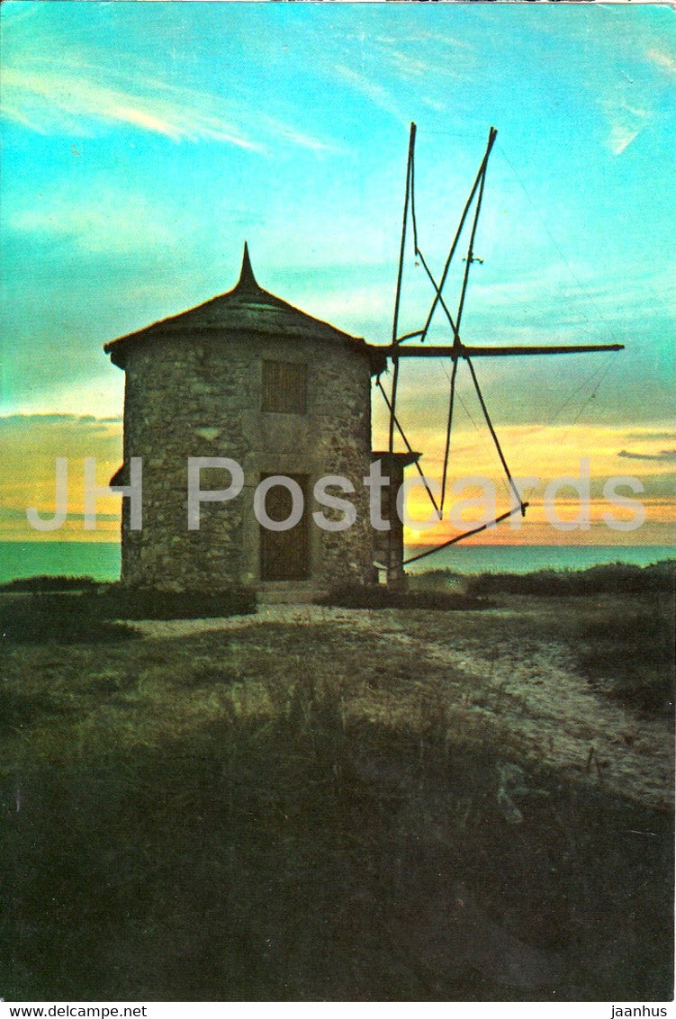 Moinhos ao entardecer - Windmill at Twilight - 599 - Portugal - unused - JH Postcards