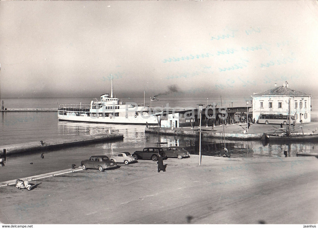 Koper - ship - car - Yugoslavia - Slovenia - used - JH Postcards