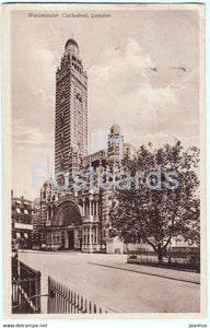 London - Westminster Cathedral - old postcard - 1926 - England - United Kingdom - used - JH Postcards