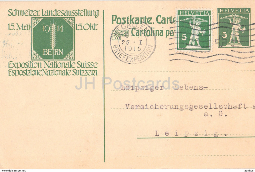 Schweizer Landesausstellung 15 Mai 1914 - Exposition Nationale Suisse - old postcard - Switzerland - used - JH Postcards
