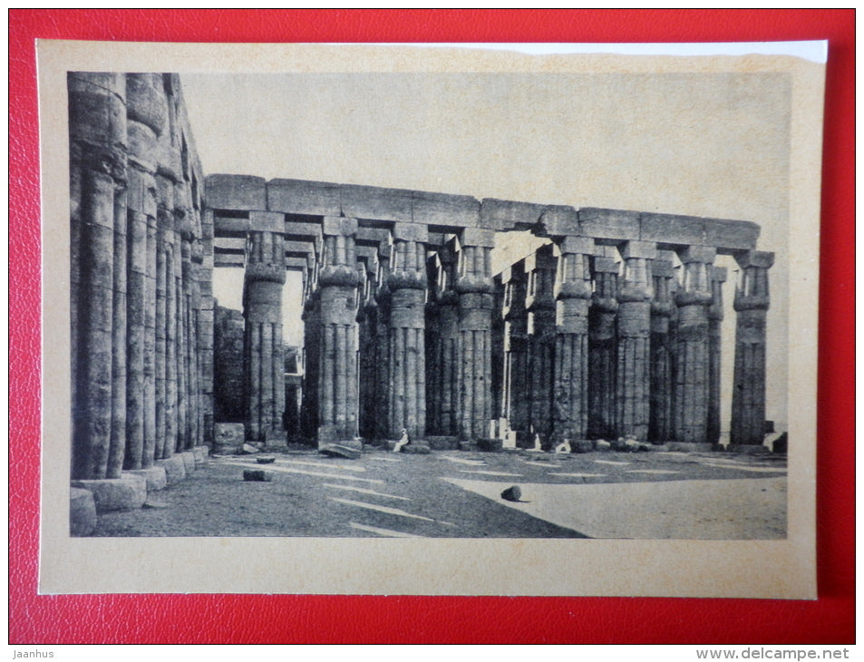 Central colonnade in Luxor , XV century BC - Egypt - Architecture of Ancient East - 1964 - Russia USSR - unused - JH Postcards