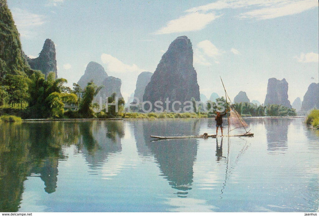 Kweilin - Guilin - Green pinnacles by the river - 1973 - China - unused