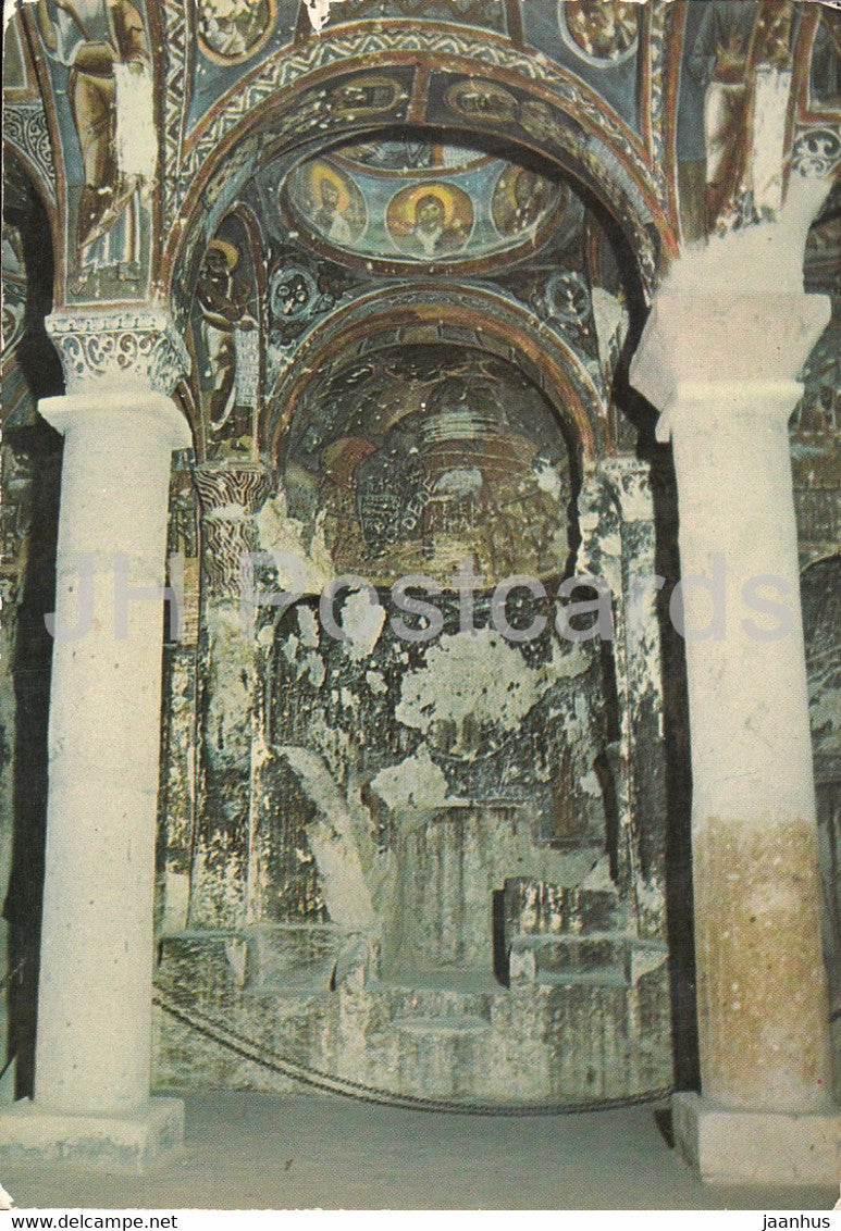 Goreme - Cappadocia - Interior of a Church - ancient art - 1995 - Turkey - used - JH Postcards
