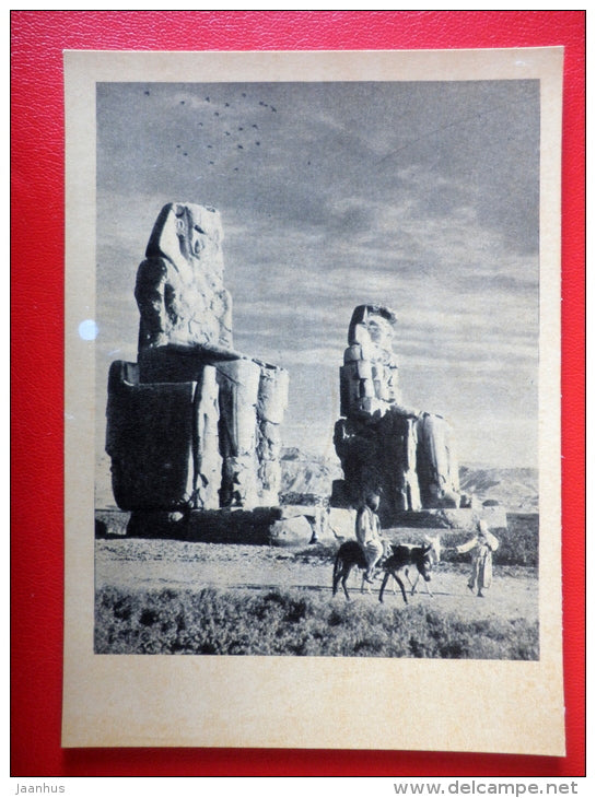 Colossi of Memnon , XV century BC - Egypt - Architecture of Ancient East - 1964 - Russia USSR - unused - JH Postcards
