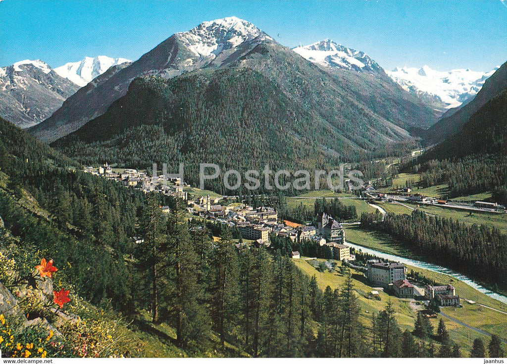 Pontresina 1830 m mit Piz Palu und Sellagruppe - 1969 - Switzerland - used - JH Postcards