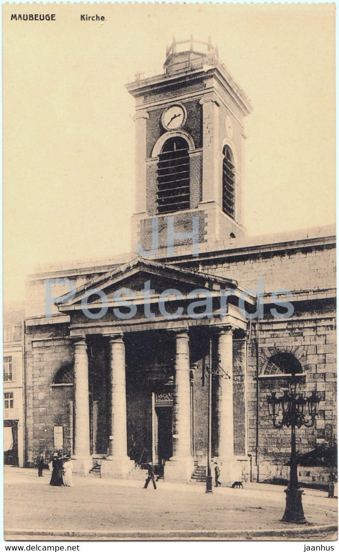 Maubeuge - Kirche - church - old postcard - France - unused - JH Postcards
