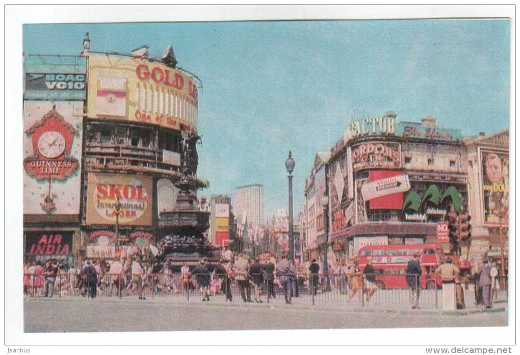 Piccadilly Circus - London - 1968 - United Kingdom England - unused - JH Postcards
