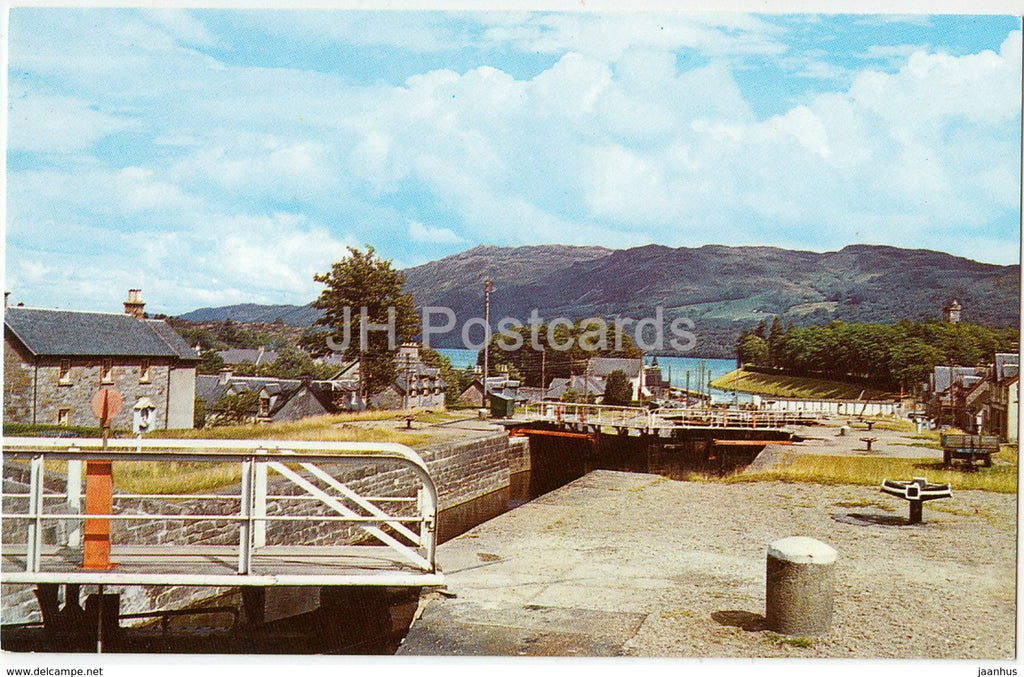 The Caledonian Canal at Fort Augustus - PT34343 - 1970 - United Kingdom - Scotland - used - JH Postcards