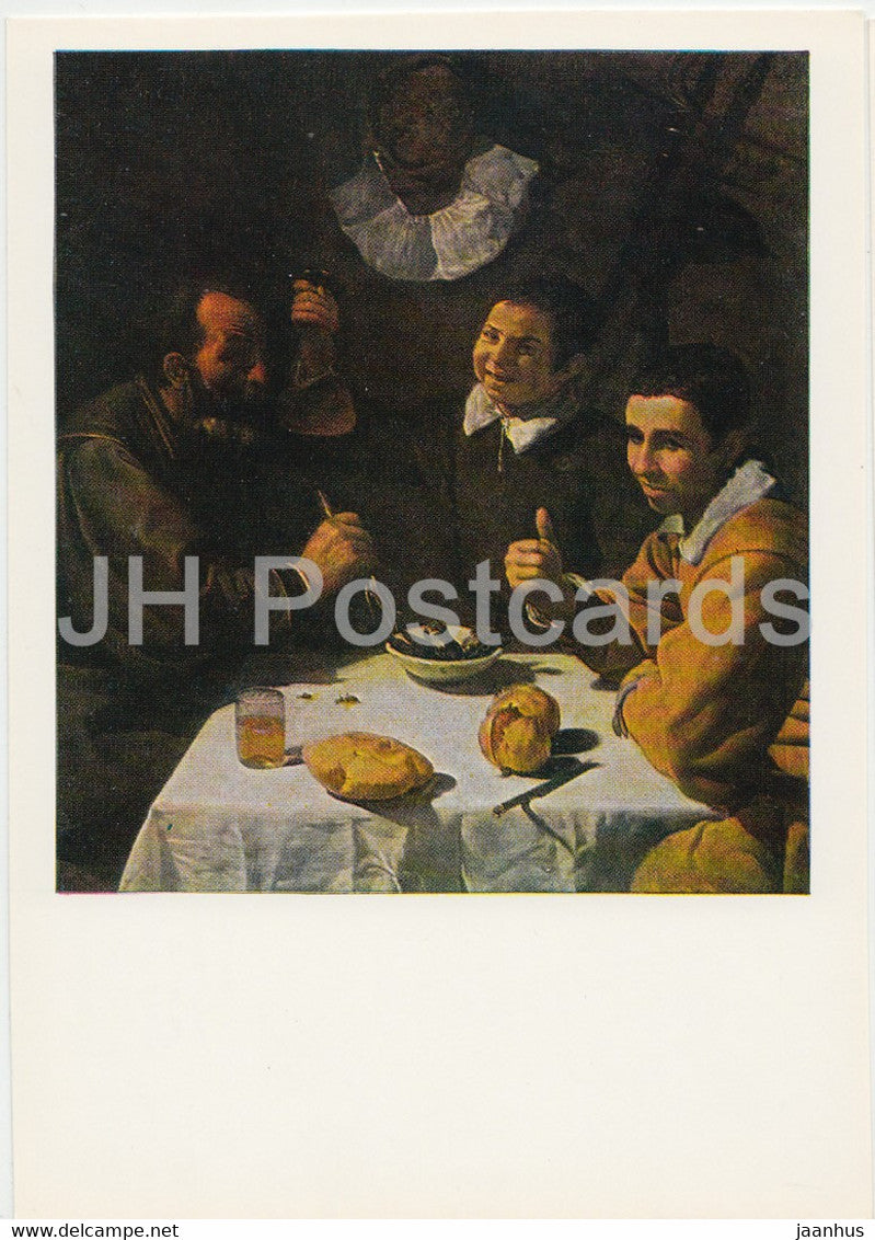 painting by Diego Velazquez - Breakfast - Spanish art - 1984 - Russia USSR - unused - JH Postcards