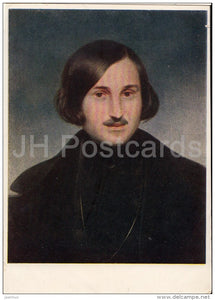 painting by F. Moller - Portrait of Russian Writer N. Gogol - Russian art - 1952 - Russia USSR - unused - JH Postcards