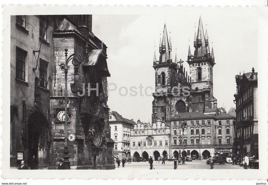Praha - Prague - Staromestske Nam - The Town Square - 105 - old postcard - 1938 - Czechoslovakia - Czech Republic - used - JH Postcards