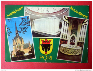 church - mausoleum - Pori - Finland - sent from Russia Vyborg Viipuri to Estonia USSR 1978 - JH Postcards