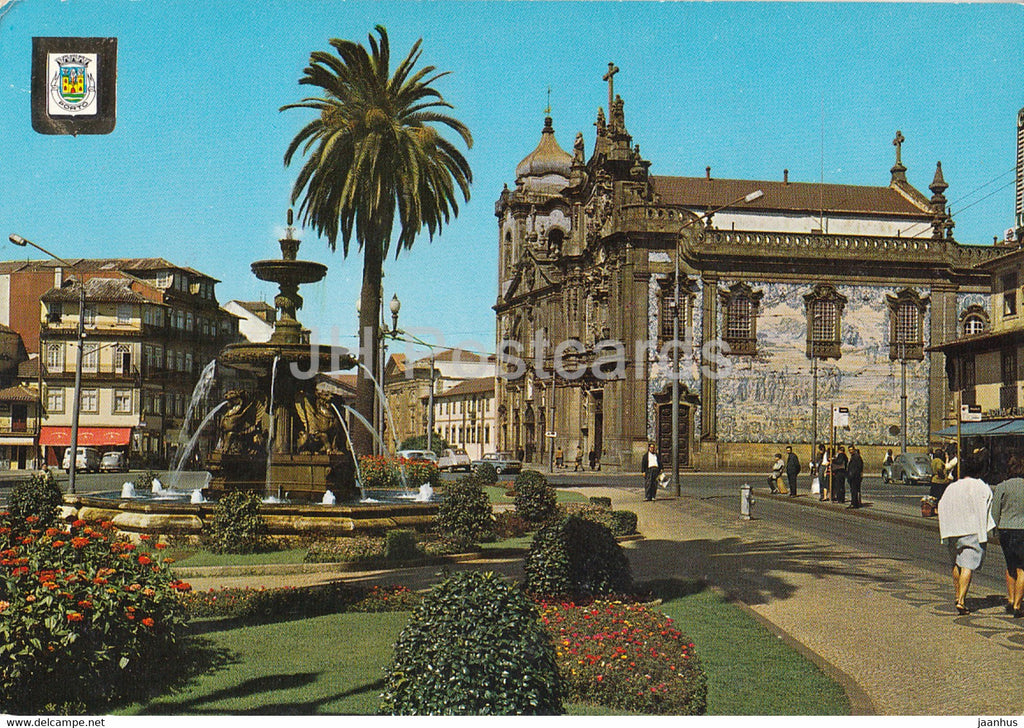 Porto - Fonte dos Leoes - Igreja do Carmo - Fountain of the Lions - Church of the Carmenr - 309 - 1969 - Portugal - used - JH Postcards