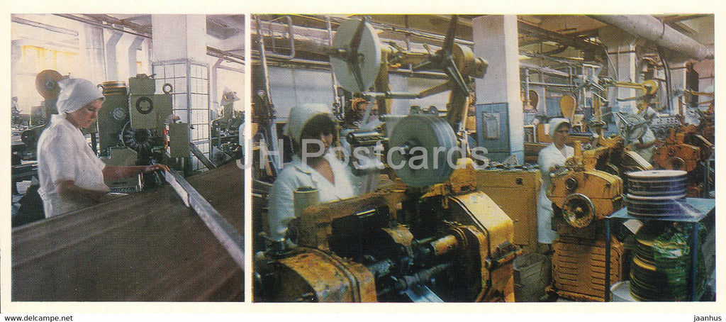 Kostanay - In the shops of a confectionery factory - 1985 - Kazakhstan USSR - unused - JH Postcards