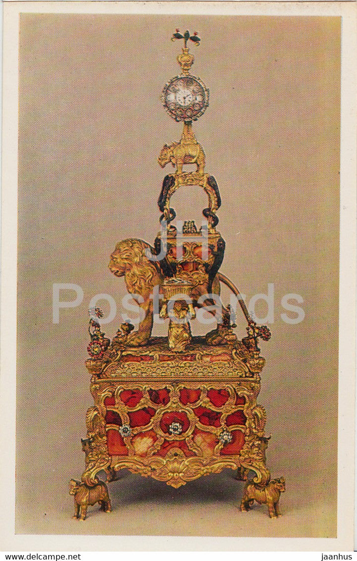 James Cox - Table Clock - English Applied Art - 1983 - Russia USSR - unused - JH Postcards