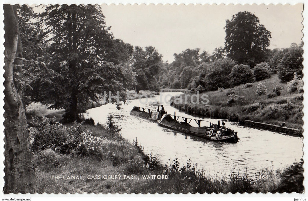 Watford - The Canal - Cassiobury Park - 1 - 1961 - United Kingdom - England - used - JH Postcards