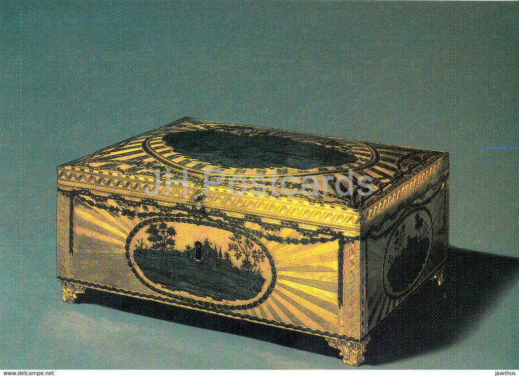 Casket , 1780 - Veliky Ustyug - Russian Silver Craft - art - 1986 - Russia USSR - used - JH Postcards