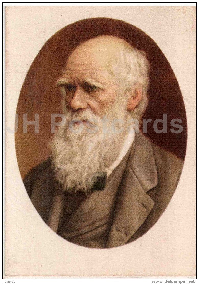 English naturalist and geologist Charles Darwin - science - 1957 - Russia USSR - unused - JH Postcards