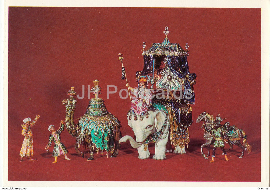 Gruppe aus dem Hofstaat des Grossmoguls - Group from the Court of Great Mogul - elephant - art - Germany - unused - JH Postcards