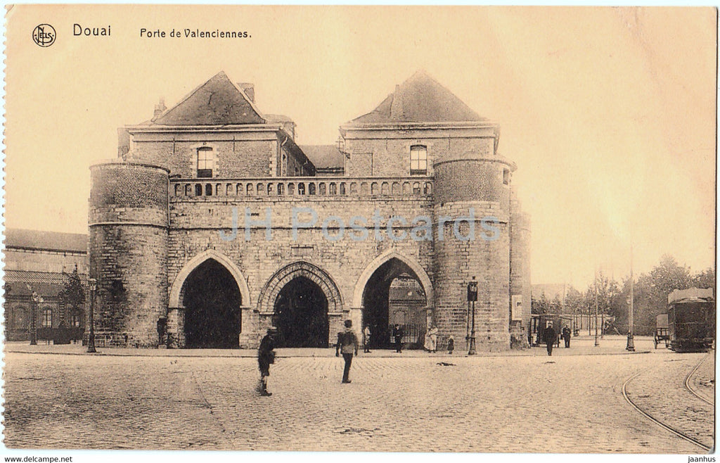 Douai - Porte de Valenciennes - old postcard - France - unused - JH Postcards