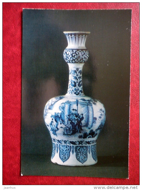Vase depicting scenes from the Chinese theatrical performances - Faience - Delftware - 1974 - Russia USSR - unused - JH Postcards