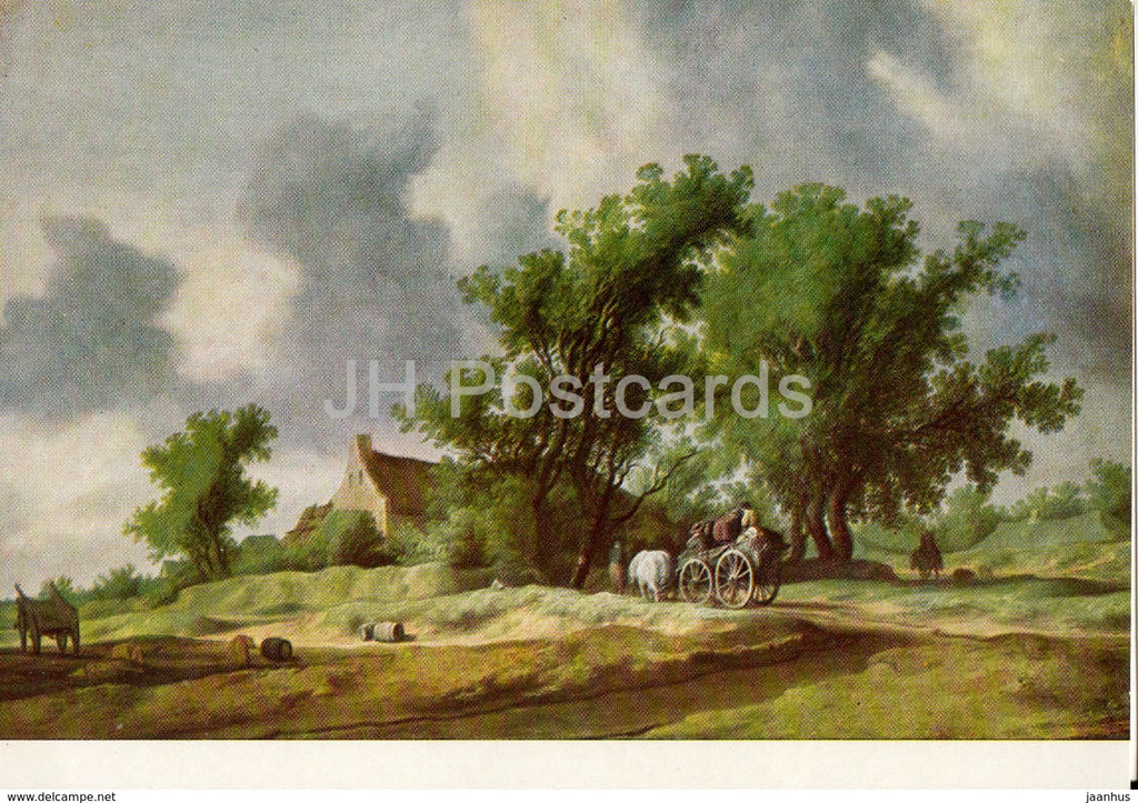 painting by Salomon van Ruysdael - After the Rain - Dutch art - Hungary - unused - JH Postcards