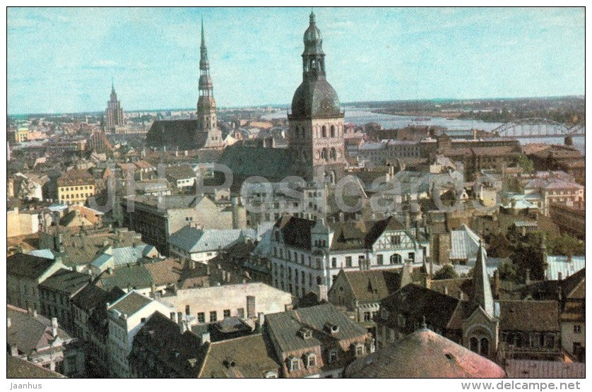 View of Riga - Old Town - Riga - 1974 - Latvia USSR - unused - JH Postcards