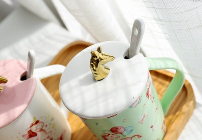 Mug licorne be unique couvercle
