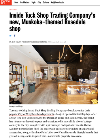 Toronto Life: Inside Tuck Shop Trading Co. new, Muskoka-themed Rosedale shop
