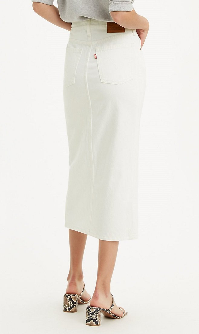 Levi's Button Front Midi Skirt