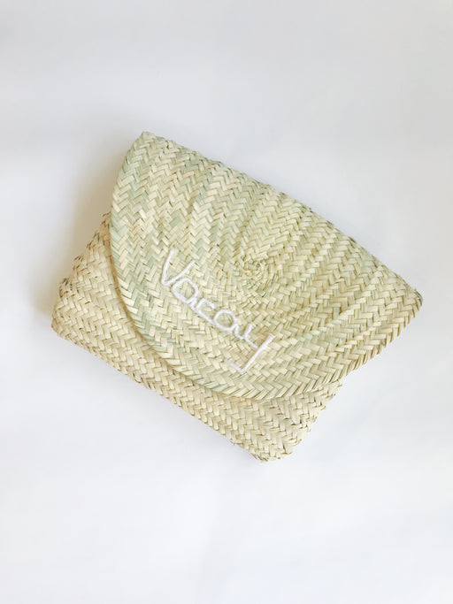 Woven Clutch - Vacay - Blanc