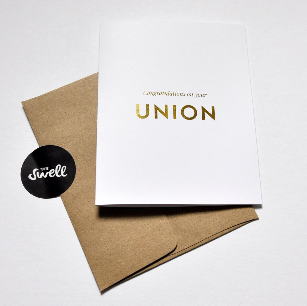 Card - Congratulations on your Union