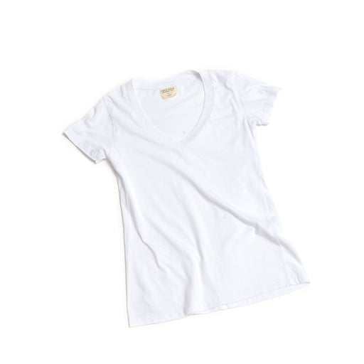 Women's CORE V Neck Cotton Tee White