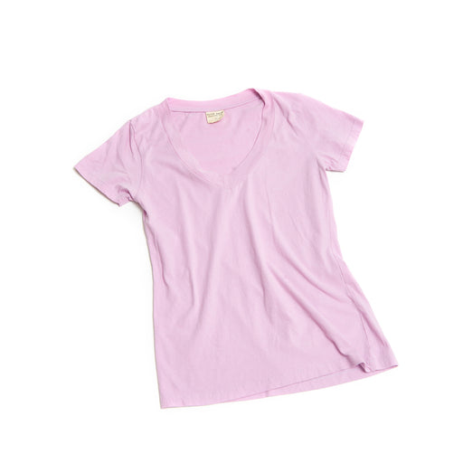 Women's CORE V Neck Cotton Tee Lavender