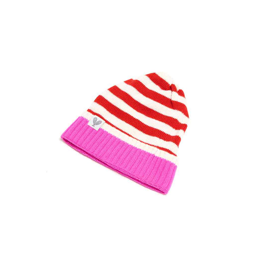 Cashmere Striped Toque (Poppy/ Nevious/ Neon Pink)