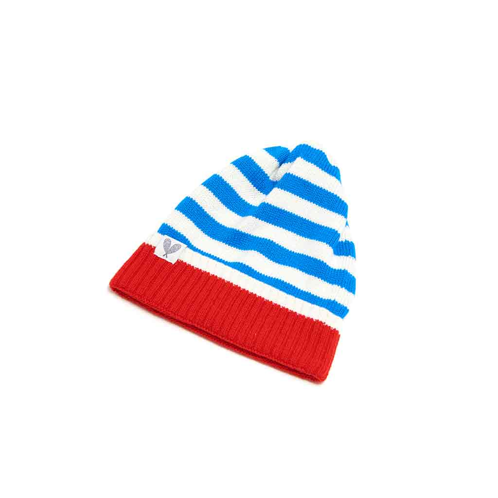 Cashmere Striped Toque (Shard/ Niveous/ Poppy)