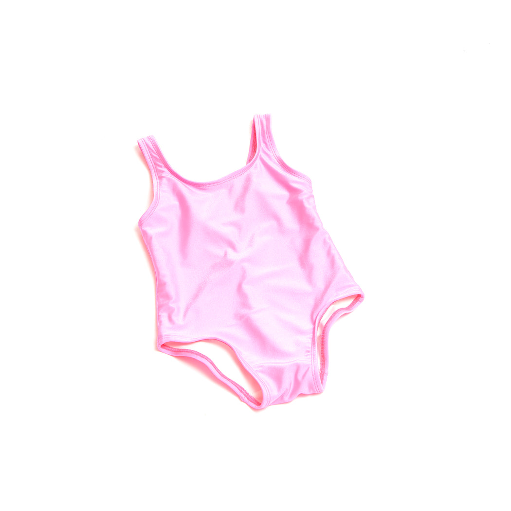Girls Neon Pink Swimsuit