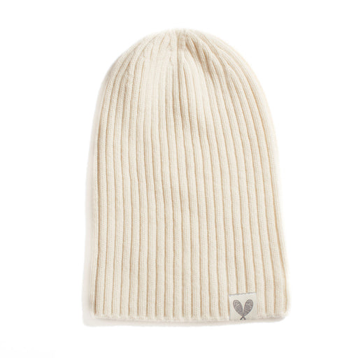 Cashmere Ribbed Slouchy Beanie