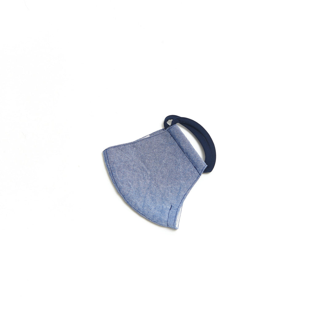 Chambray Face Mask (Black Ear Loops)