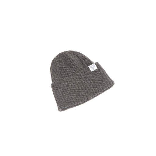 Cashmere Ribbed Slouchy Toque (Ibex)